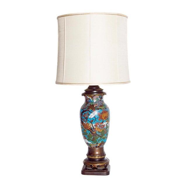 Late 19th Century Japanese Meiji Cloisonne Vase as Custom Lamp For Sale - Image 13 of 13