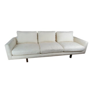Edward Wormley for Dunbar Mid-Century Modern White Curved Corner Sofa