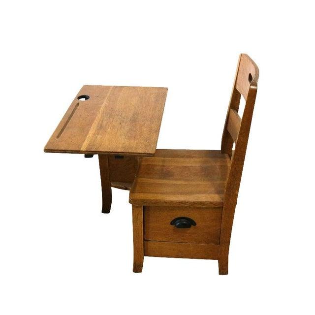 1900s Sliding Top School Desk - Image 7 of 7