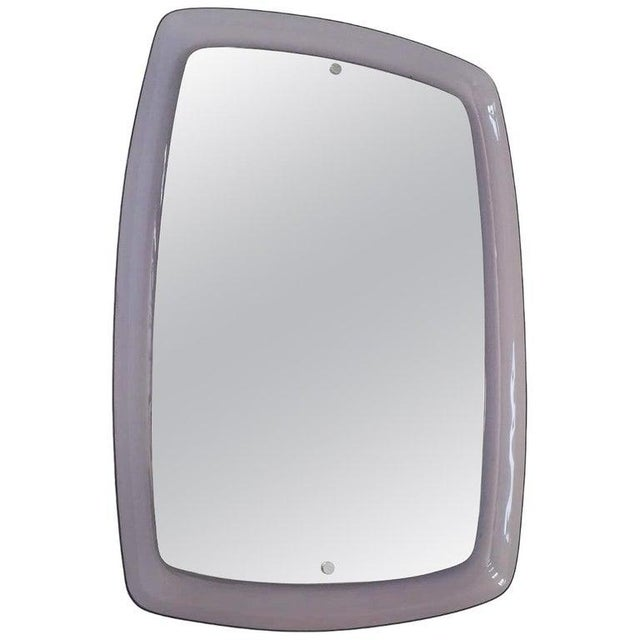 1970s Vintage Amethyst Mirror For Sale