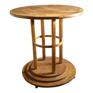Vintage Robert Irwin Arts & Crafts Circular Table For Sale