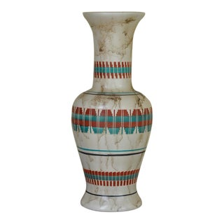 "18"" Tall Navajo Native American Arlene John Horsehair Pottery Vase For Sale"