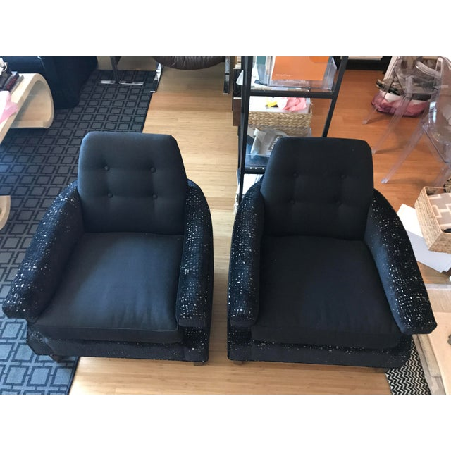 Mid-Century Modern Club Chairs - A Pair For Sale In Chicago - Image 6 of 6