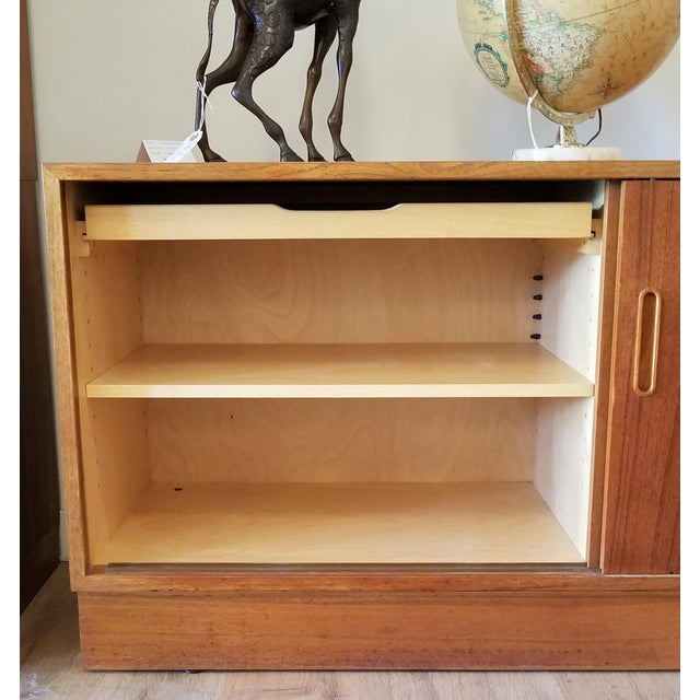Wood 1960s Paol Hundevad Restored Compact Teak Credenza For Sale - Image 7 of 12