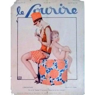 """Leonnec 1927 """"L'Inconstant"""" Le Sourire Print For Sale"""