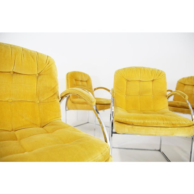 Mid-Century Modern Set of 6 Chairs by Milo Baughman From 1970. American Design. For Sale - Image 3 of 6