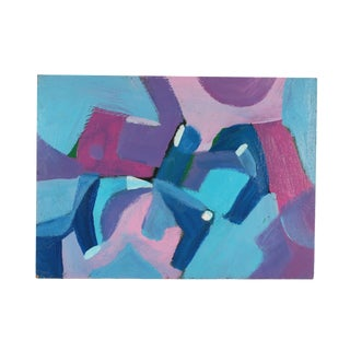 Late 20th Century Vern Rader Oil on Board Abstract Painting For Sale