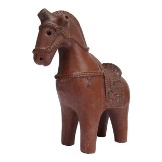 C.1960's Mid-Century Aldo Londi for Bitossi Terra-Cotta Ceramic Trojan Horse For Sale