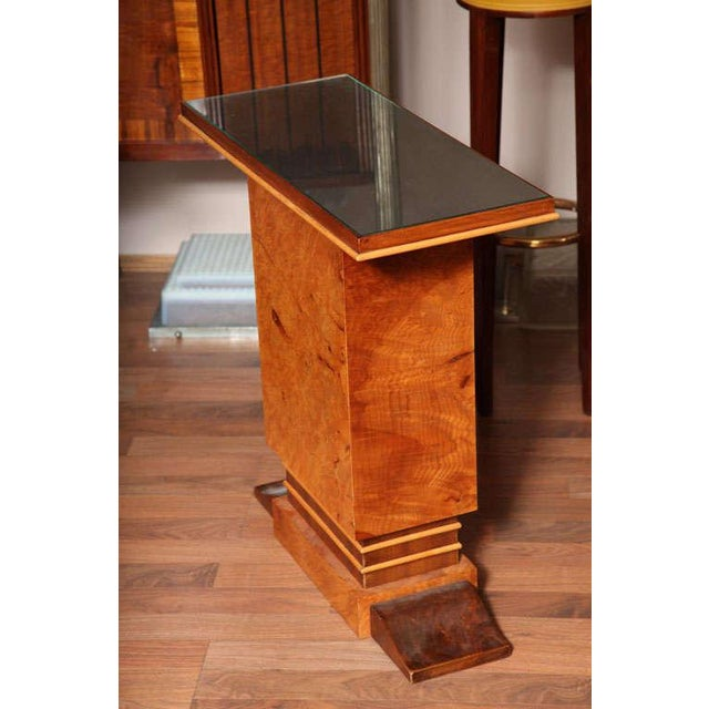 Wood Pair of French Art Deco Side Tables For Sale - Image 7 of 10