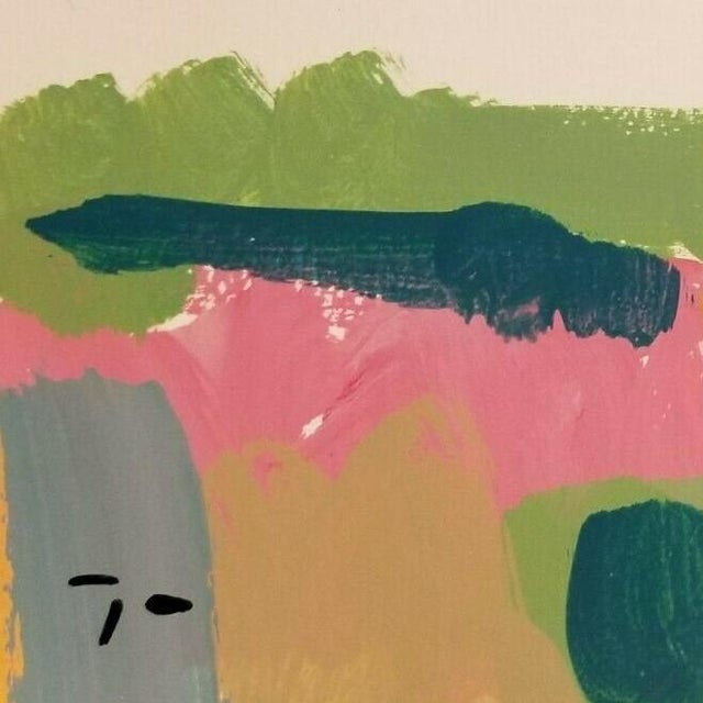 Jose Trujillo Original Landscape Acrylic on Paper Painting For Sale - Image 4 of 4