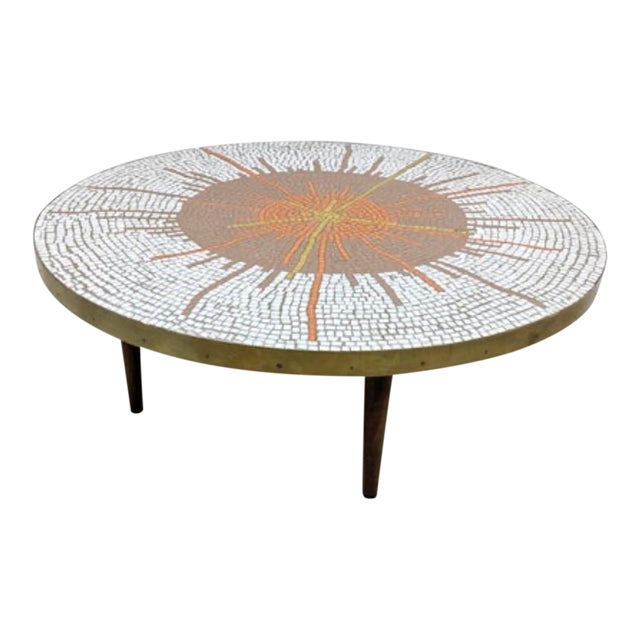 Mid Century Modern Mosaic Coffee Table For Sale