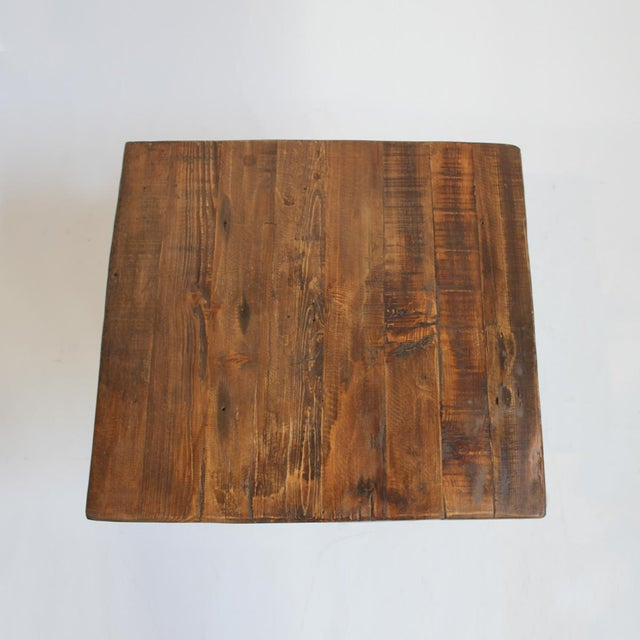Reclaimed wood side table chairish for Reclaimed wood dc