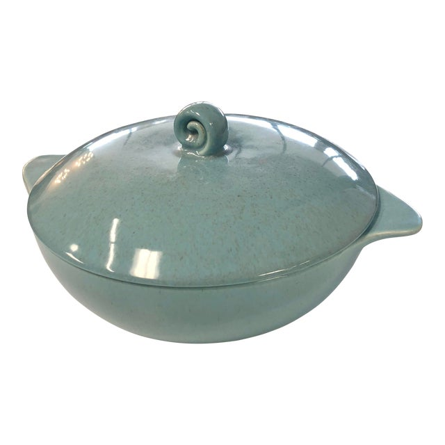 20th Century Contemporary Robin Egg Serving Dish For Sale