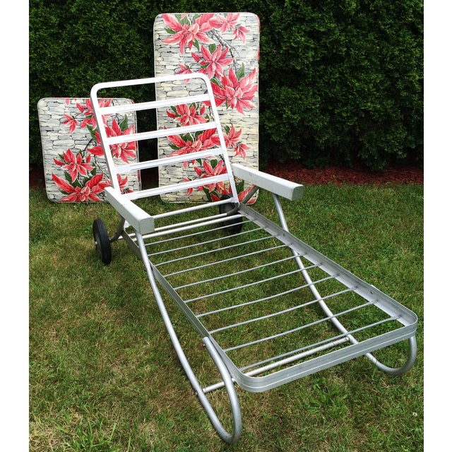 Vintage Bunting Aluminum Chaise Lounge Patio Chair | Chairish