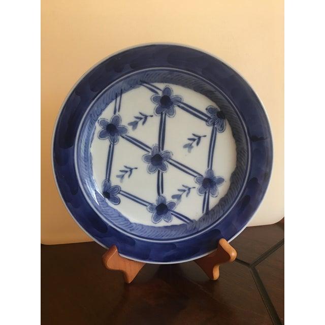 Blue & White Floral Dessert Plates - Set of 12 For Sale - Image 11 of 12