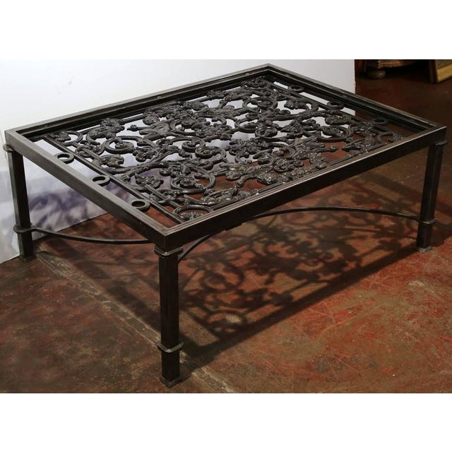 Polished Iron Coffee Table Base For Sale In Dallas - Image 6 of 10