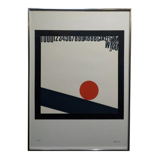 Eugenio Carmi- Red Ball- Original 1966 Color Screenprint -Pencil Signed For Sale