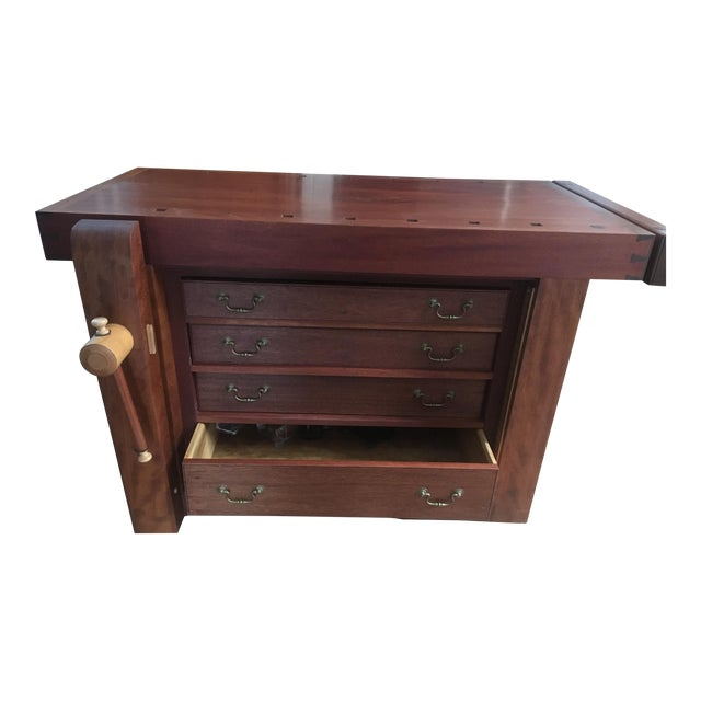 Custom Hand Built Work Bench by Swiss Craftsman Andrew Sykes For Sale