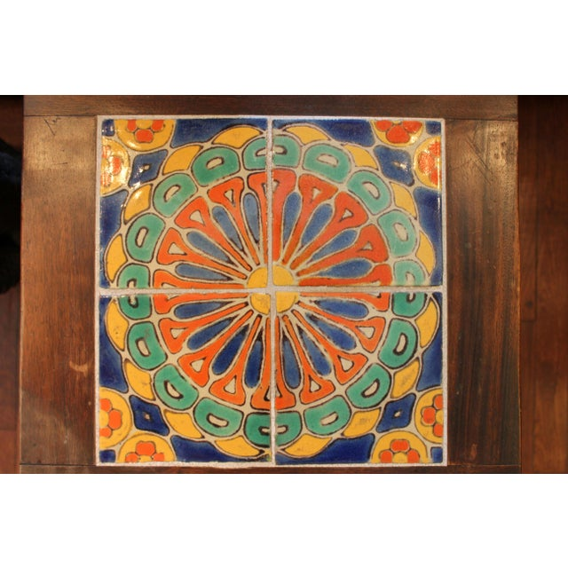 1930s Vintage California Pottery Tile Side Table For Sale - Image 5 of 11