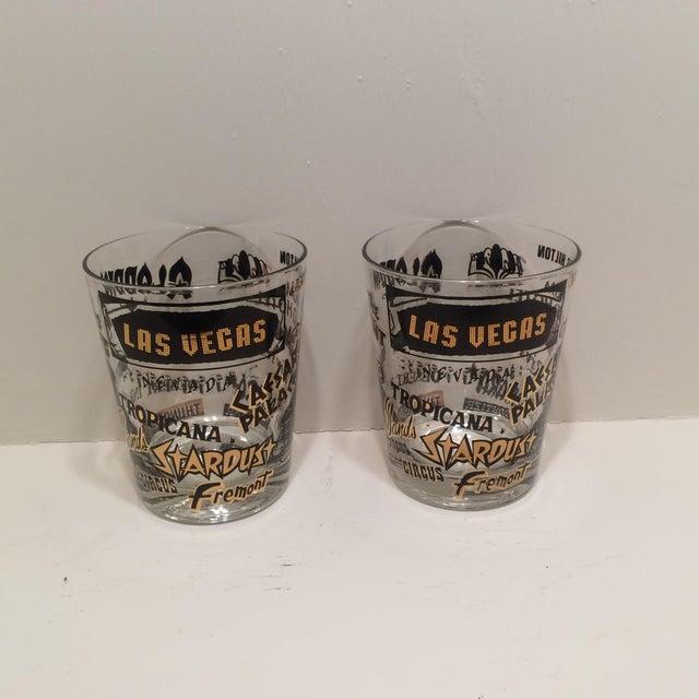 Mid Century Las Vegas Tumbler Glasses - A Pair - Image 2 of 7