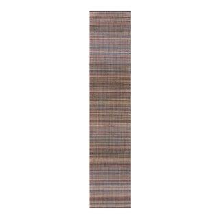 "Early 20th Century Striped American Rag Rug, Runner, 3' x 15'1"""