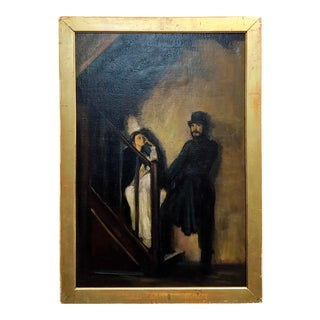 """After Sir William Rothenstein """"The Doll's House"""" Oil Painting For Sale"""