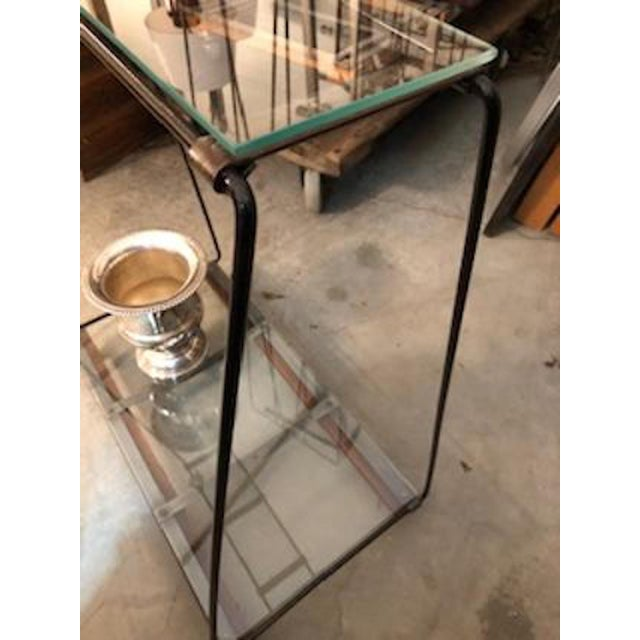 Industrial Style Metal Console Table For Sale In Providence - Image 6 of 8