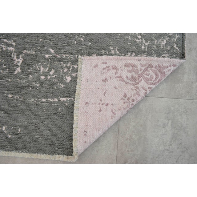 Gray Overdyed Turkish Rug - 3′11″ X 5′11″ - Image 9 of 9