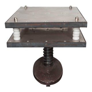French 1940s Industrial Two-Tier Side Table in Aluminum For Sale