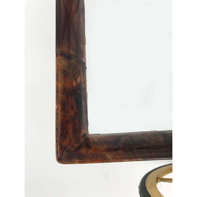 Aldo Tura Aldo Tura Goatskin and Lacquer Bar Cart For Sale - Image 4 of 9