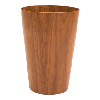 Tall Scandinavian Modern Teak Wastebasket by Rainbow Wood Products For Sale