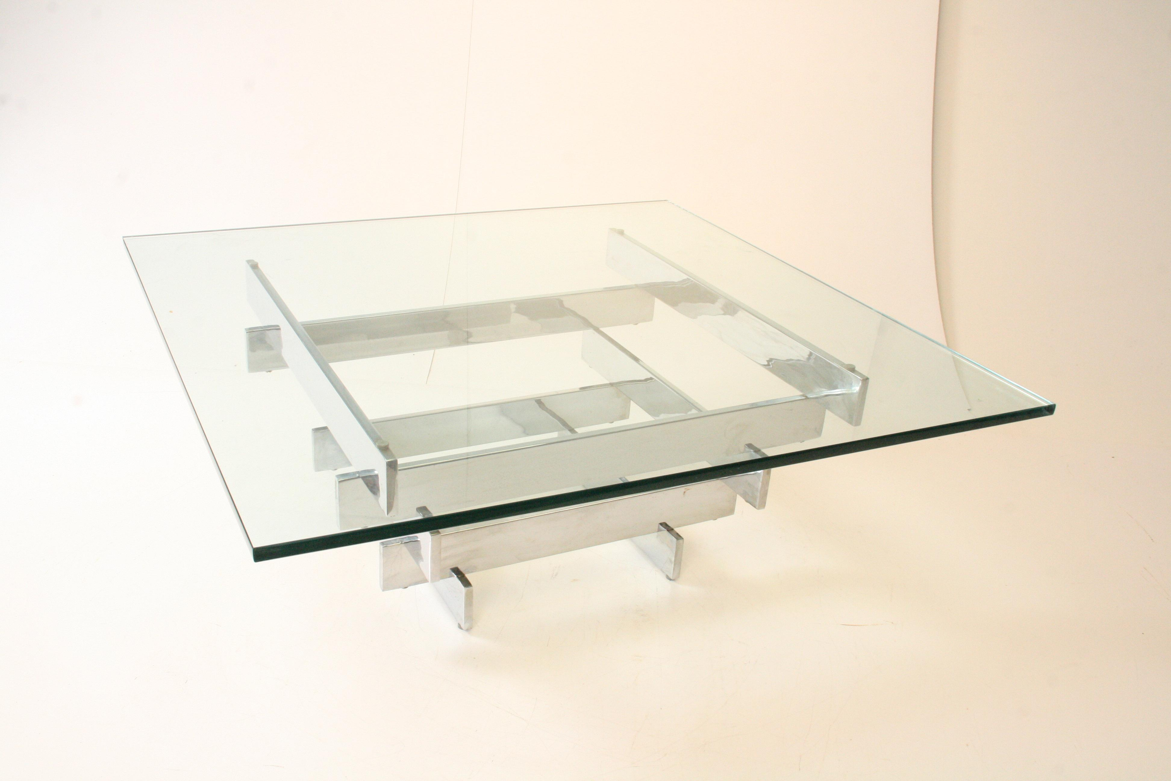 Paul Mayen Mid Century Chrome U0026 Glass Coffee Table   Image 7 Of 11