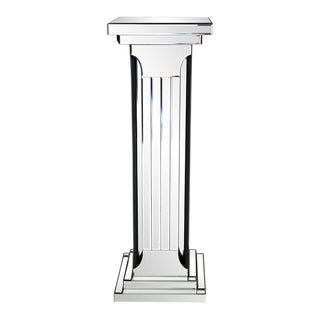 The Mirrored Doric Style Pedestal from Kenneth Ludwig Chicago For Sale