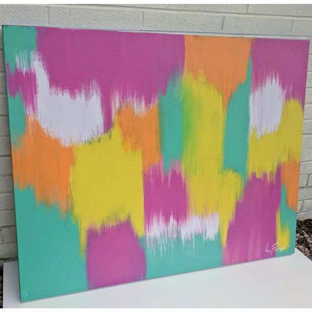 Large Scale Original Abstract Painting Signed For Sale - Image 9 of 11