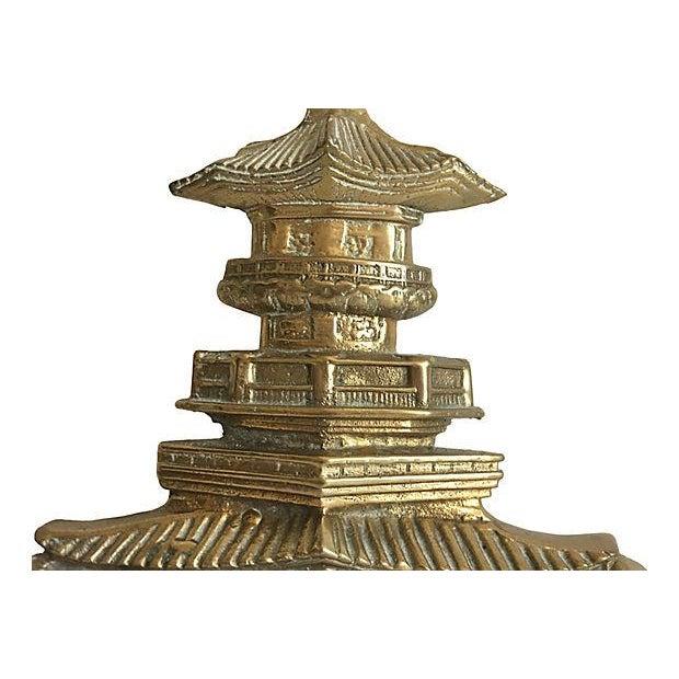 Oversize Pagoda & Monkey Door Knocker For Sale - Image 4 of 9