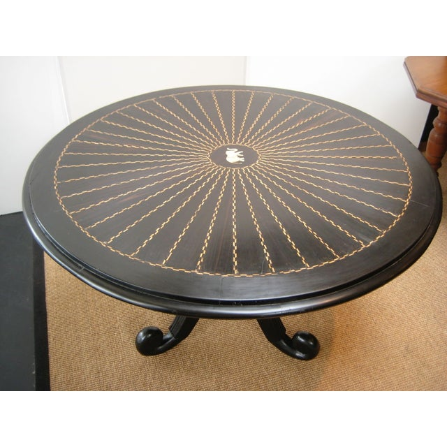Asian 19th C. Anglo Indian Center Table For Sale - Image 3 of 4