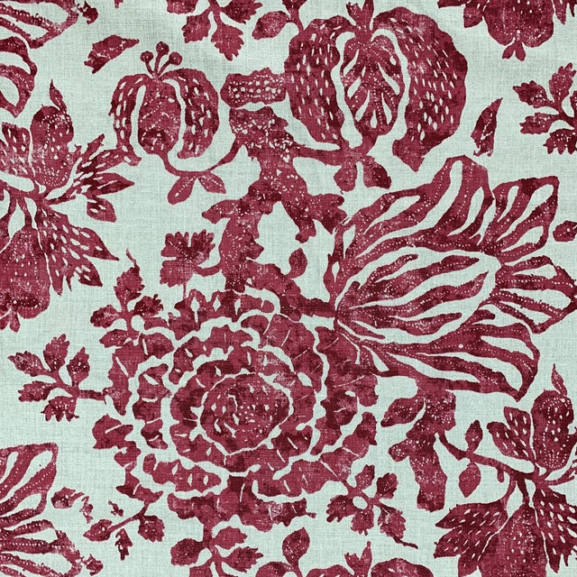 A stylish and chic textile from Carolina Irving. Pattern is called exotic bloom and is a large scale floral hand printed...