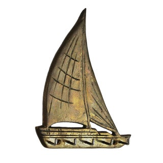 Brass Sailboat Key Hook For Sale