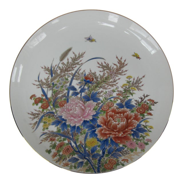 Chinoiserie Flower Plate For Sale