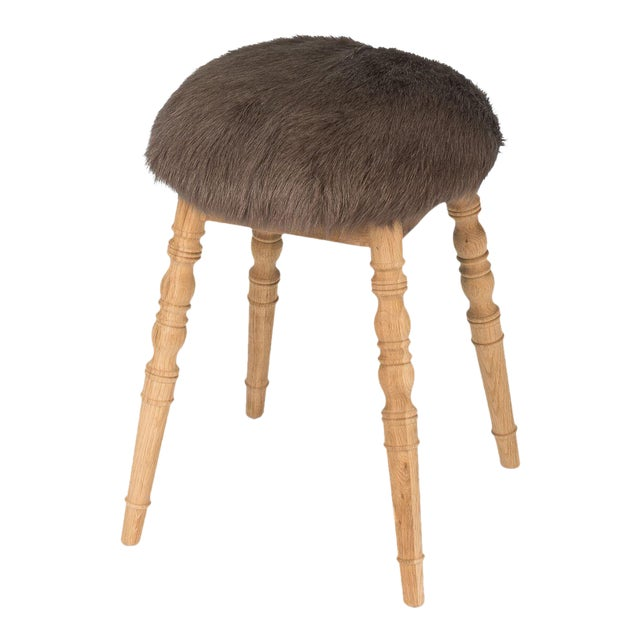 Sarreid LTD Brown 'Winoma' Stool For Sale