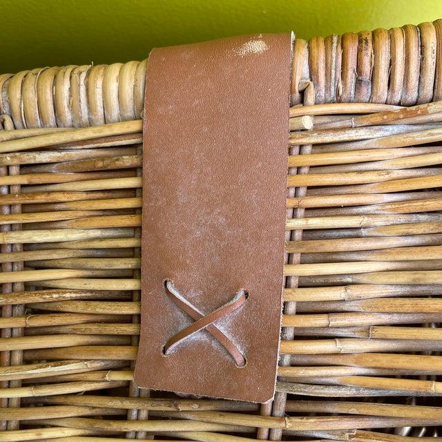 Vintage Wicker Hamper For Sale - Image 9 of 12