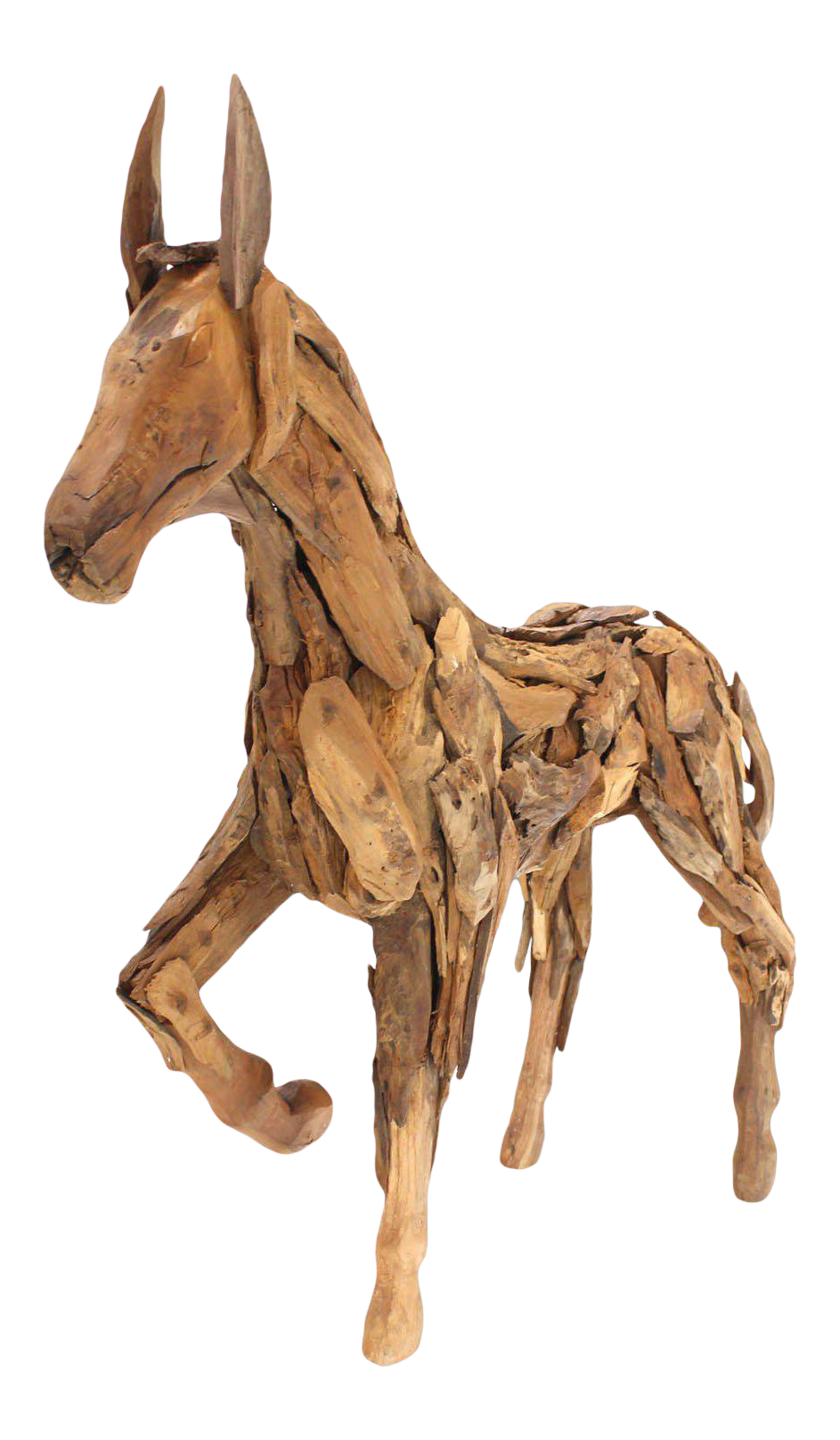 Early 20th Century Antique Reclaimed Wood Folk Art Horse Sculpture Chairish
