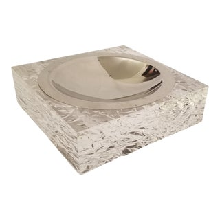 FranCo Italy Clear Lucite Ashtray For Sale