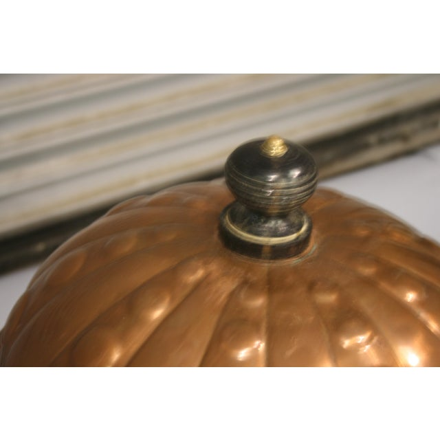 French Antique Copper Cauldron With Iron Stand For Sale - Image 4 of 5