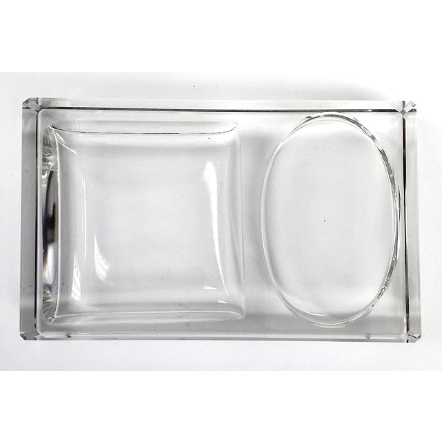 Crystal Art Deco Cigarette Ashtray - 2 Pieces - Image 4 of 11