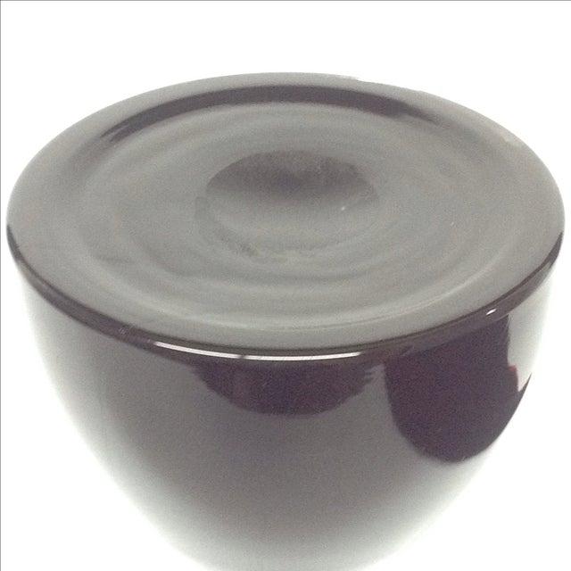 Ettore Sottass Vintage Black & White Glass Vase - Image 5 of 6