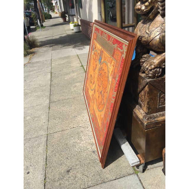 """Large Hand Painted Map of the World 1613 Nova Totivs Terrarvm 64"""" For Sale In San Francisco - Image 6 of 9"""