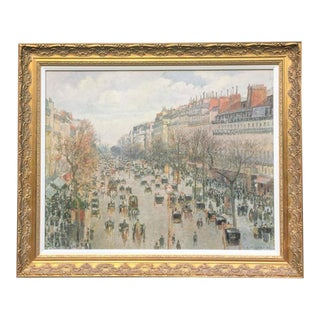 Paris in Late 1800s Oil Painting For Sale