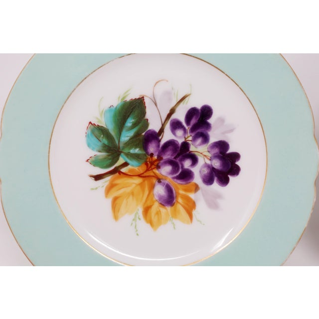 Boho Chic Antique Bavarian China Salad Plates - Curated Set of 8 For Sale - Image 3 of 13