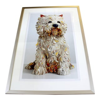 1999 Contemporary Large Framed Dog Lithograph Signed by Jeff Koons 59/75 For Sale